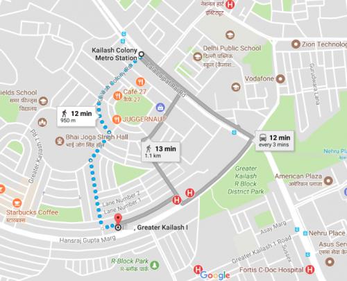 Map to Metro